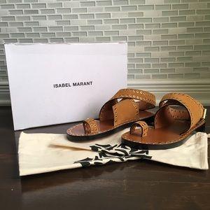 NWT Isabel Marant Jools Eyelet Velvet Sandals